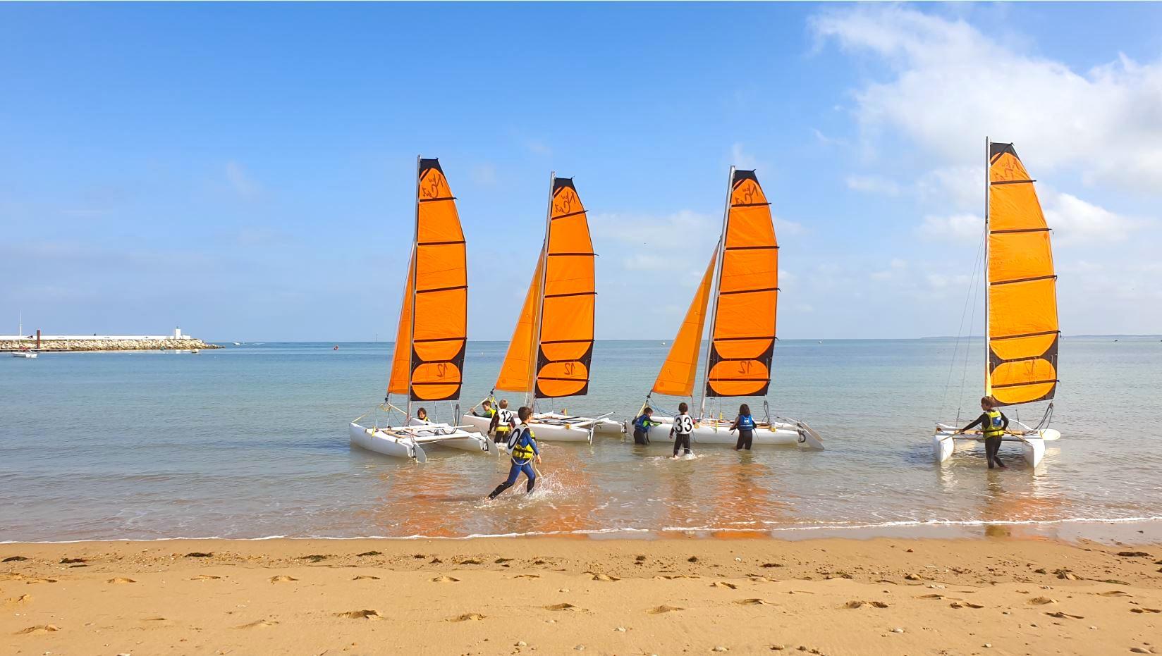 cours voile catamaran oléron yco saint-denis newcat 12