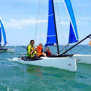 cours voile catamaran oléron yco saint-denis jeunes enfants